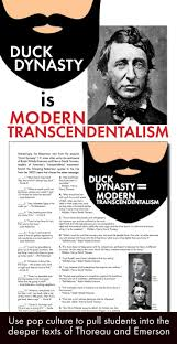 best transcendentalism american studies images transcendentalism use duck dynasty as a link to the texts of emerson thoreau