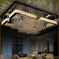 high quality modern led chandelier crystal lamp rectangular chandelier light re living room lights large chandelier chandelier candle covers from