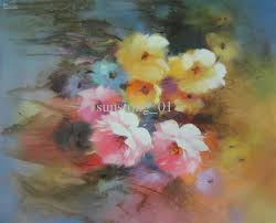 modern impression pink flowers oil painting high quality hot s completely handmade oil painting home decoration wall art oil painting decorative art