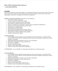 office manager sample job description box office manager jobs resume job
