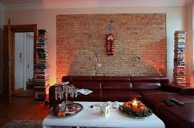 brick wall living room designs remarkable