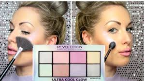 makeup revolution ultra cool glow highlighter palette review swatches