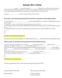 Format Of A Will Sample - East.keywesthideaways.co