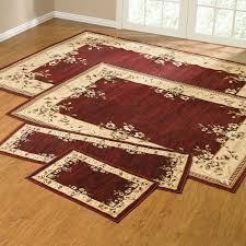 rose border 4 pc rug set