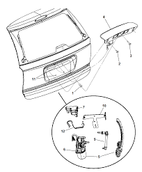 2006 chrysler town country liftgate panel handle and motor diagram i2191538
