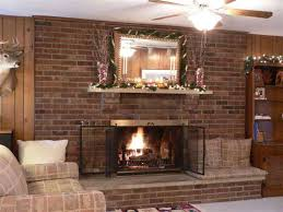 brick wall fireplace brick fireplace mantel decorating