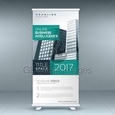 banner design template modern standee rollup banner design template gl stock images