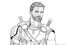 Coloring Pages Avengers Infinity War Thor Drawing Coloring Pages