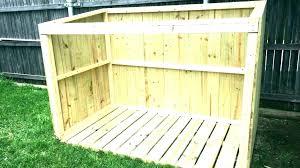 wooden garbage can bin storage shed refuse modern outdoor trash home depot sheds plans building cabinet