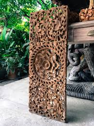 Wood Carved Wall Decor Round Carved Wood Wall Decor Decorating Ideas