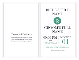 wedding party program templates wedding program template