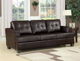 acme platinum sofa w queen sleeper brown bonded leather 15060c