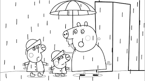 Small Picture Peppa Pig Mummy Pig Rain Coloring Book Pages Kids Fun Activities
