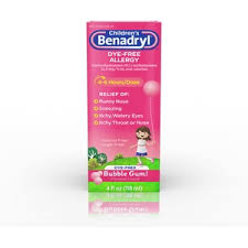 Children S Chewable Benadryl Dosage Chart Childrens Benadryl Dye Free Allergy Liquid Bubble Gum 4 Fl Oz