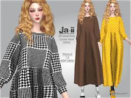 Helsoseira's JAII - Loose Dress | Loose dress, Sims 4 clothing, Dresses