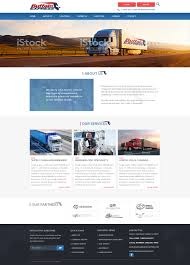 Web Designer Express Serious Professional Trucking Company Web Design For