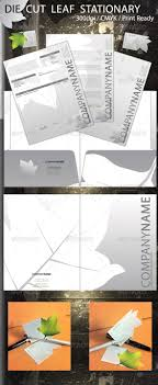 Die Cut Leaf Stationary Fonts Logos Icons Fonts Print Templates
