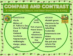 best compare contrast images reading  venn diagram of two st patrick s day picture books compare contrast plus 26 page bie on all things numeral