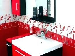 red and black bathroom decor wall another accessories master decorating ideas relax soak u