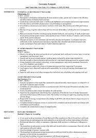 Audit Manager Resume Samples Audit Project Manager Resume Samples Velvet Jobs