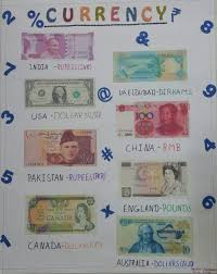 Currency Chart For All Countries Currency Chart Countries Schoolprojects Mathematics