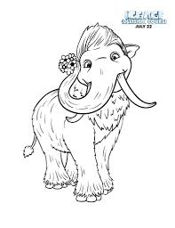 Good Ice Age Coloring Pages 39 On Books With Chronicles Network