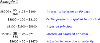 Calculate A Partial Payment On A Simple Interest Loan