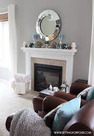 Mantel Decor Ideas - get lots of interior decor tips on creating a  beautiful layered decorated