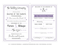 Church Program Templates Free Download Printable Wedding Programs Templates Vastuuonminun