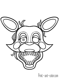 Beautiful Mangle Coloring Pages Fnaf Page Fiscalreform Foxy X