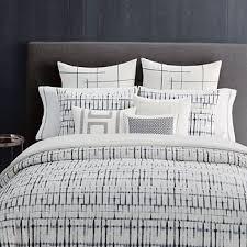 vera shibori grid bedding