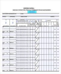 Certified Payroll Form Samples 9 Free Documents In Word Pdf