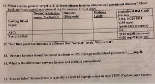 11 What Are The Goals Or Target A1c Blood Gluco