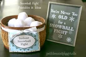 i saw these indoor snowball sets on they look pretty fun too