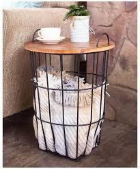 blanket storage basket rustic