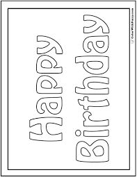Small Picture 9 best Birthday Coloring Pages images on Pinterest Birthday