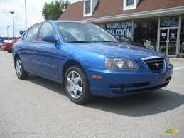 2005 Tidal Wave Blue Hyundai Elantra GLS Sedan #33935756 ...