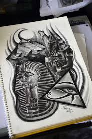 Egypt Tattoo Sketch By Thiago Padovani Drawings Egypt Tattoo