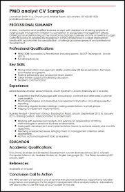 Pmo Analyst Cv Sample | Myperfectcv