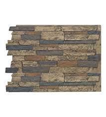 faux wide stacked stone wall panels