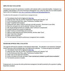 Employee Self Evaluation Checklist Template Review Form Format ...