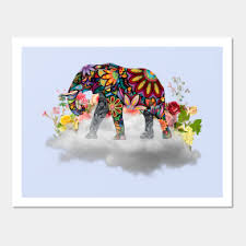 mandala elephant wall art on alabama elephant wall art with surreal elephant artwork wall art teepublic