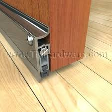 soundproofing door sweeps soundproof door sweep automatic door bottom with surface mounted to the face of an interior wooden