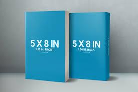 book series presentation mockup 5 x 8 front back cover paperback mockup