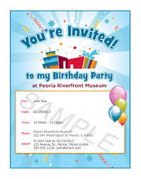 birthday invitations samples invitation card sample for birthday party simple invitation for