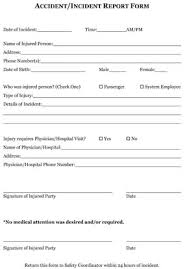 Sample Employee Incident Reports Small Business Free Forms