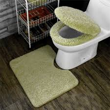 cushioned toilet seat covers. winter bathroom seat warmer coral fleece carpet toilet cover soft case closestool lid 3pcs/set cushion-in from home cushioned covers