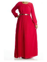 Kabayare Fashion Size Chart Red French Pleats Maxi Dress