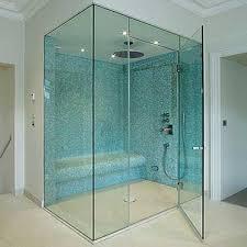 glass frameless shower enclosure
