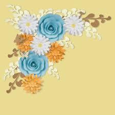 Daisy Paper Flower 8 Pc Combo Blue Ranunculus Daisy Paper Flower Backdrop Wall Decor Set 3d Premade